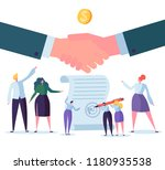 handshake business agreement.... | Shutterstock .eps vector #1180935538