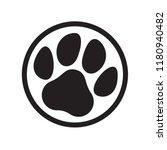 paw logo of cat or dog animal... | Shutterstock .eps vector #1180940482