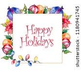 christmas winter holiday symbol ...   Shutterstock . vector #1180941745
