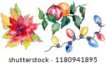 christmas winter holiday symbol ... | Shutterstock . vector #1180941895