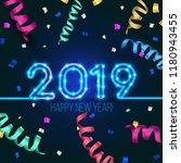 new year's design. 2019 the... | Shutterstock .eps vector #1180943455
