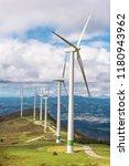 renewable energy. wind turbines ...   Shutterstock . vector #1180943962