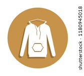 hood jacket icon in badge style....
