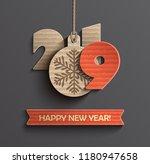 2019 creative happy new year... | Shutterstock .eps vector #1180947658