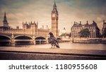 big ben in london hdr | Shutterstock . vector #1180955608