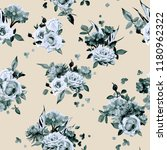 seamless floral pattern with... | Shutterstock .eps vector #1180962322