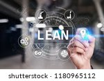 lean manufacturing. quality and ...   Shutterstock . vector #1180965112