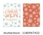 let it snow vector hand drawn... | Shutterstock .eps vector #1180967422