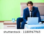 businessman working in the... | Shutterstock . vector #1180967965