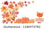 thanksgiving day   template... | Shutterstock .eps vector #1180973782