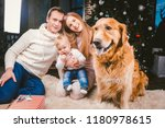 theme christmas and new year... | Shutterstock . vector #1180978615