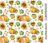 Autumn Seamless Pattern Of...