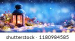 christmas decoration   lantern... | Shutterstock . vector #1180984585