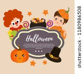 template halloween with clown... | Shutterstock .eps vector #1180986508