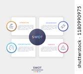 four separate rectangular paper ... | Shutterstock .eps vector #1180990975