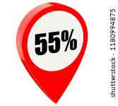 55 percent off on glossy red... | Shutterstock . vector #1180994875
