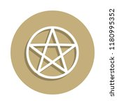 wicca pentagram sign icon in...