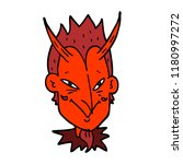 cartoon doodle devil face | Shutterstock . vector #1180997272