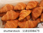 french croissants in the market | Shutterstock . vector #1181008675