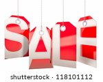 sale concept  formed of red...   Shutterstock . vector #118101112