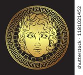 greek and roman god apollo.... | Shutterstock .eps vector #1181021452