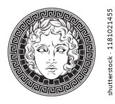 greek and roman god apollo.... | Shutterstock .eps vector #1181021455