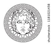 greek and roman god apollo.... | Shutterstock .eps vector #1181021458