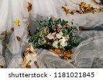 gentle bouquet of the bride... | Shutterstock . vector #1181021845