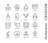 set of 16 simple line icons... | Shutterstock .eps vector #1181023258