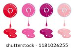 nail varnish drips from the... | Shutterstock .eps vector #1181026255