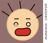 emoticon with stressed guy with ...   Shutterstock .eps vector #1181029105