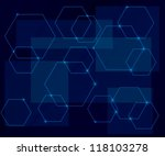 dark blue background with... | Shutterstock .eps vector #118103278