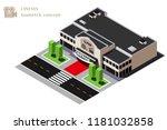 isometric cinema building...   Shutterstock .eps vector #1181032858