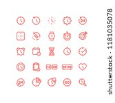 time clock watches icons... | Shutterstock .eps vector #1181035078