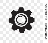 settings vector icon isolated... | Shutterstock .eps vector #1181035222