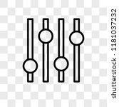 settings vector icon isolated... | Shutterstock .eps vector #1181037232
