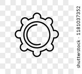 setting vector icon isolated on ... | Shutterstock .eps vector #1181037352