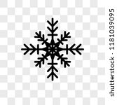 snowflake vector icon isolated... | Shutterstock .eps vector #1181039095