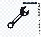round wrench vector icon... | Shutterstock .eps vector #1181043142