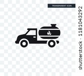 fuel truck vector icon isolated ... | Shutterstock .eps vector #1181043292