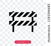 barrier vector icon isolated on ... | Shutterstock .eps vector #1181046685