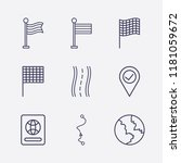 outline 9 country icon set.... | Shutterstock .eps vector #1181059672