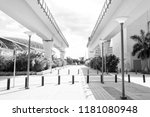 viaduct structures in downtown...   Shutterstock . vector #1181080948