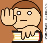 emoji with man that is swearing ... | Shutterstock .eps vector #1181083978