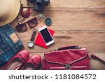 travel accessories costumes for ... | Shutterstock . vector #1181084572