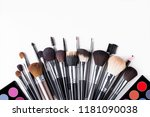 set of make up tool brushes | Shutterstock . vector #1181090038