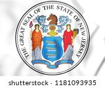 3d state seal of new jersey ... | Shutterstock . vector #1181093935