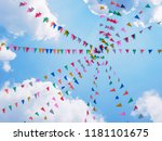 festival outdoor colourful... | Shutterstock . vector #1181101675