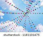 festival outdoor colourful... | Shutterstock . vector #1181101675
