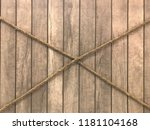 cross ropes on timber wall | Shutterstock . vector #1181104168